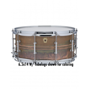 Ludwig 8x14 Raw Copper Snare Drum