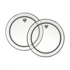 """Remo 14"""" Clear Powerstroke 3 Batter Drumhead w/ Clear Dot on Top Side"""