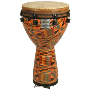 "Remo Key Tuned Djembe 14"" Diameter, 25"" Height in Fabric Kintekloth"