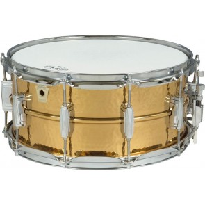 Ludwig Hammered Bronze Snare Drum 6.5x14 With Imperial Lugs