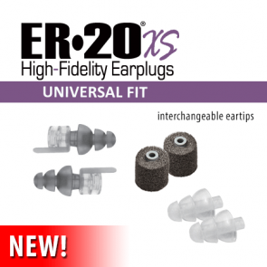 ER20XS Universal Low-Profile Earplugs