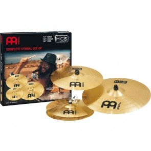 "Meinl HCS Cymbal Set: 14"" Hihat, 16"" Crash, 20"" Ride Cymbal"