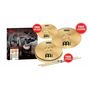 "Meinl HCS Cymbal Package with 13"" HiHats 14"" Crash and FREE 10"" Splash and ProMark 5A Sticks!"