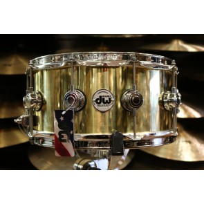 DW Drum Workshop 6.5x14 Polished Bell Brass Snare Drum With Chrome Hardware