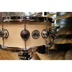 DW Drum Workshop Collectors Series 6x14 Maple Snare Drum in Natural Satin Oil With Chrome Hardware
