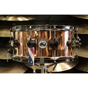 DW Drum Workshop 6.5x14 Smooth Finish Solid Copper Snare Drum w/ Black Nickel Hardware