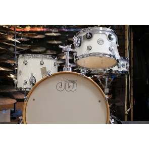 DW Drum Workshop Frequent Flyer Gloss White 8x12, 11x14, 12x20 w/ mount, 5x14 Snare Drum