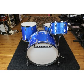Ludwig Classic Maple Pro Beat 24 Drum Kit In Blue Sparkle - 9x13, 16x16, 16x24 FREE SNARE