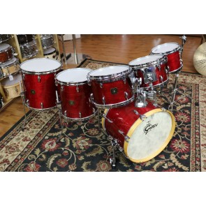 Consignment 1985 Gretsch USA Custom Maple Drum Set, Rosewood Finish, 10,12,13,14,16,20 RIMS, Tama Mnts, Fiber Cases