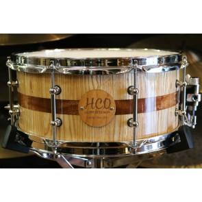 HCD Holloman Custom Ash Mahogany 6X13 Snare Drum