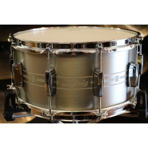 udwig 7x14 Heirloom Stainless Steel Snare Drum