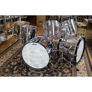 Used Ludwig USA Chrome over Maple, Dbl Bass, 24,24,18,16,13,12 with tom stand