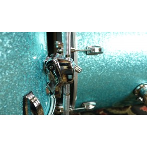 Ludwig Classic Maple Shell Kit in Turquoise Glitter Downbeat 14x20, 8x12, 14x14, w/ Free matching 5x14 Snare Drum