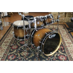 PDP Pacific Concept Maple Exotic Shell Pack in Charcoal Burst over Walnut PDCMX2215WC