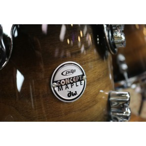 PDP Pacific Concept Maple Exotic Shell Pack in Charcoal Burst over Walnut