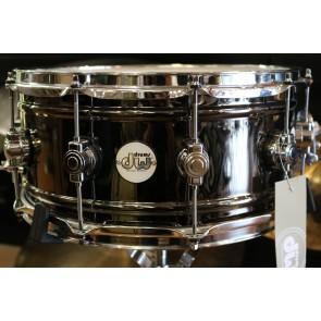 DW Design Series Black Nickel over Brass 6.5x14 Snare Drum DDSD6514BNCR