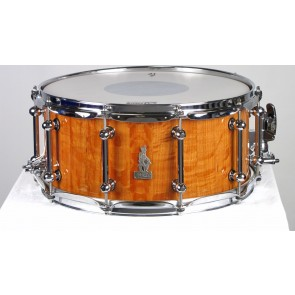 Brady 14 X 6.5 Sheoak Block Snare Drum Natural Gloss Finish