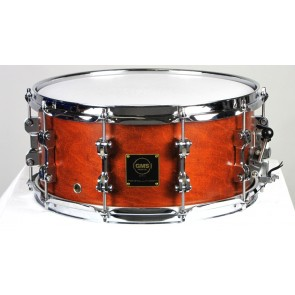 GMS Revolution Snare 6.5x14 with Brass Interior, Brown Mahogany