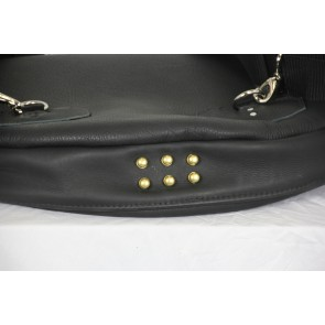 Woodshed Leatherworks Black Leather Delux 22