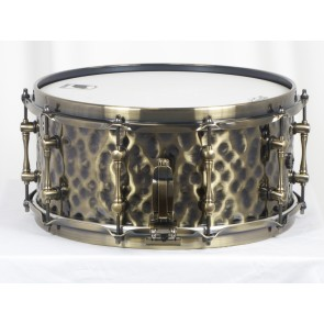 Mapex Sledgehammer Black Panther Hammered Brass 6.5x14 Snare Drum