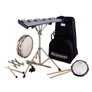 Ludwig LE2482R Percussion Learning Center Combo Kit with Rolling Bag