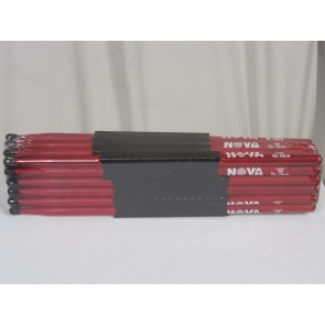 Vic Firth 5BN in red with NOVA imprint - Brick - 12 Pairs
