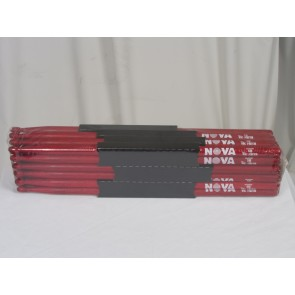 Vic Firth 5B in red with NOVA imprint - Brick - 12 Pairs