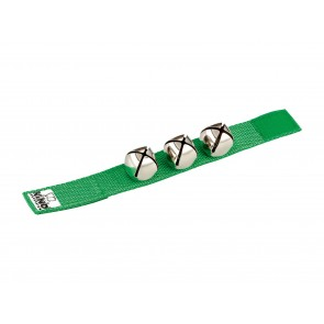 NINO Wrist Bells 9' Strap with 3 Bells - Green
