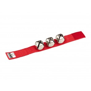 NINO Wrist Bells 9' Strap with 3 Bells - Red