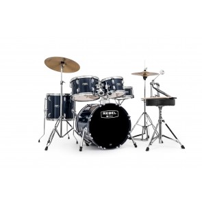 Rebel 5 Pc Complete Junior Set Up with Fast Size Toms Royal Blue