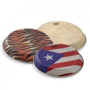 "Remo 11.06"" Skyndeep Crimplock Symmetry Puerto Rican Flag Drumhead M4 Type, D1"