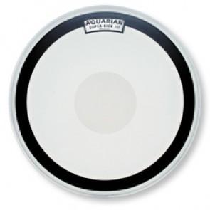 "Aquarian 22"" Super Kick III Black Coated with Power Dot Bass Drumhead"