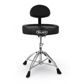 Mapex Saddle Top Drum Throne with Back Rest and with 4 Legs Double Braced