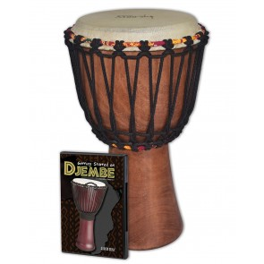 Tycoon TAJ-8 Djembe with Hudson's Getting Started on Djembe DVD