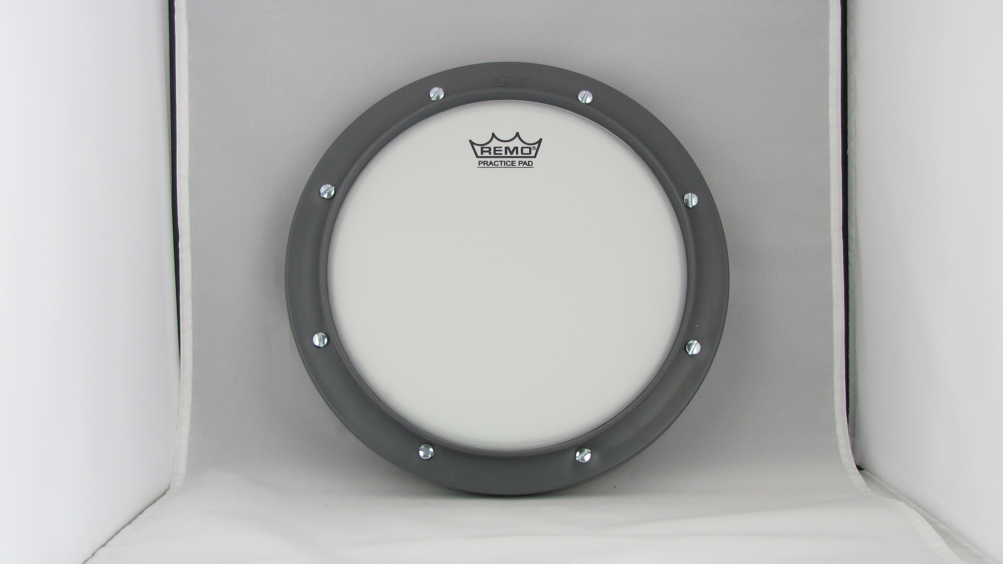 remo 8 grey tunable drum practice pad ebay. Black Bedroom Furniture Sets. Home Design Ideas