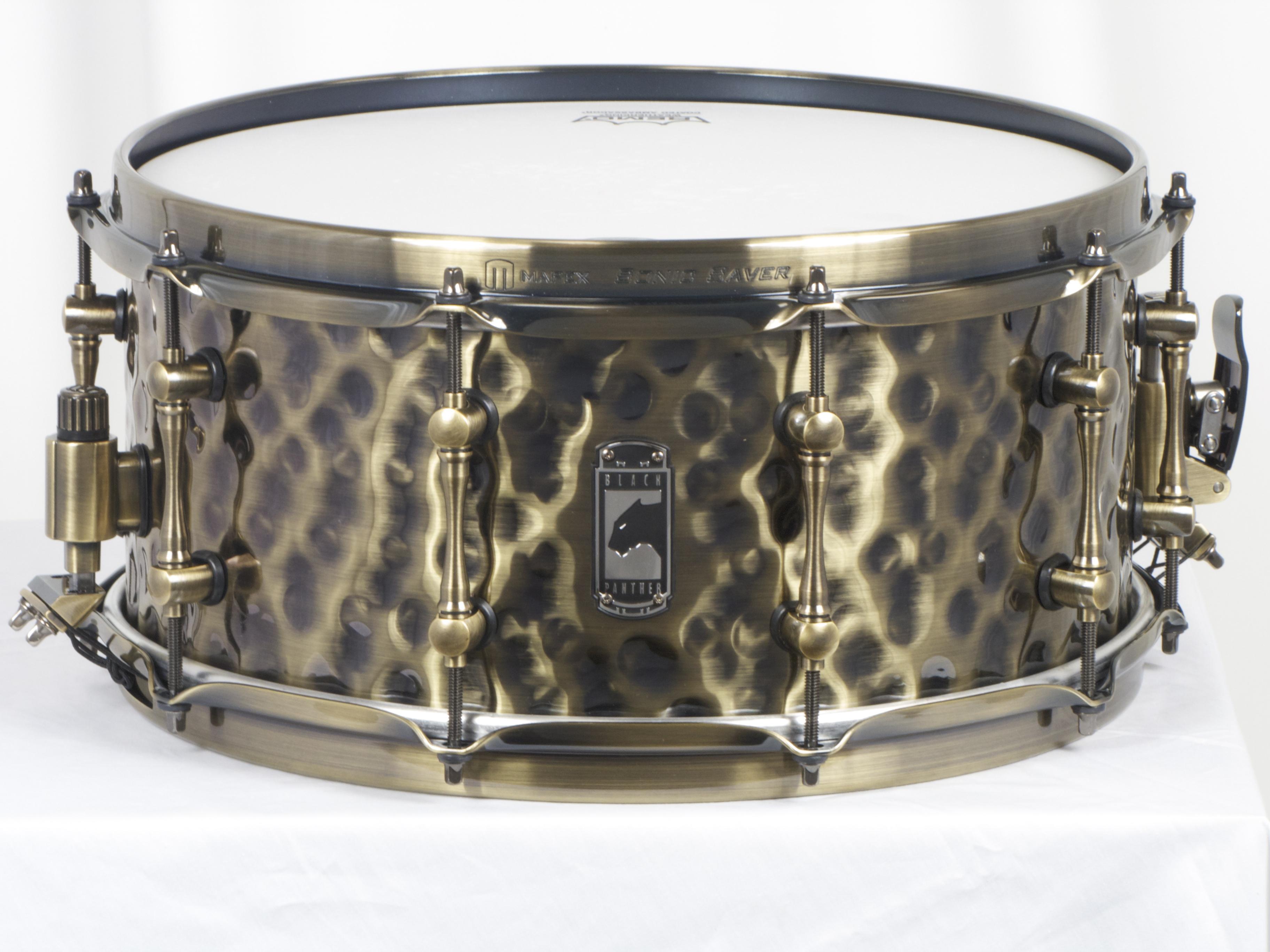mapex sledgehammer black panther hammered brass snare drum ebay. Black Bedroom Furniture Sets. Home Design Ideas