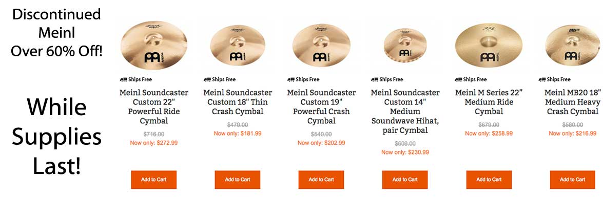discontinued meinl