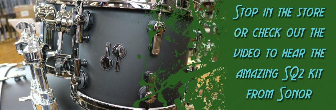 Sonor SQ2 Matte Black Columbus Percussion