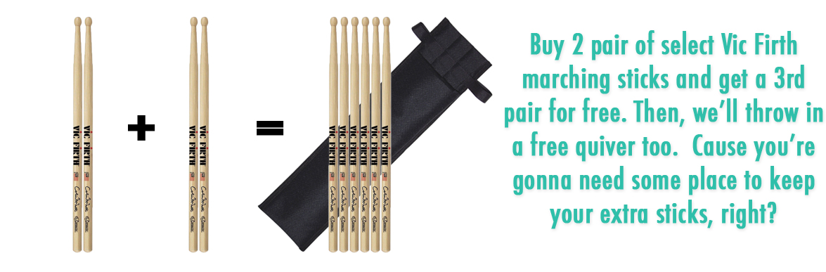 Vic Firth Buy 1 Get 2 Free