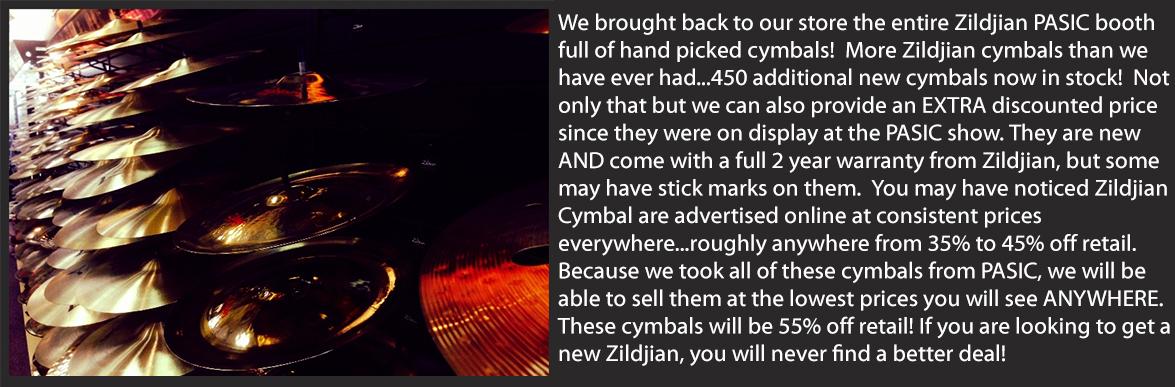 Zildjian PASIC Sale!