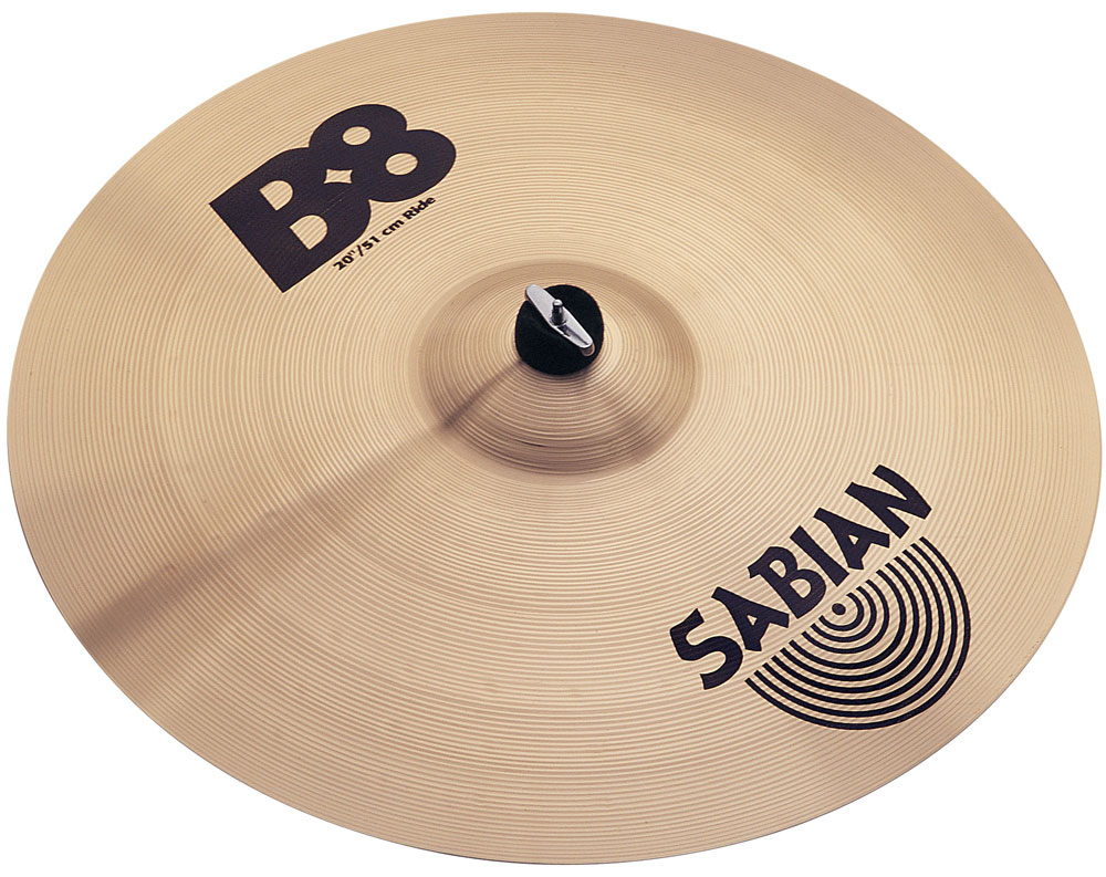 sabian 20 b8 ride cymbal 622537420122 ebay. Black Bedroom Furniture Sets. Home Design Ideas