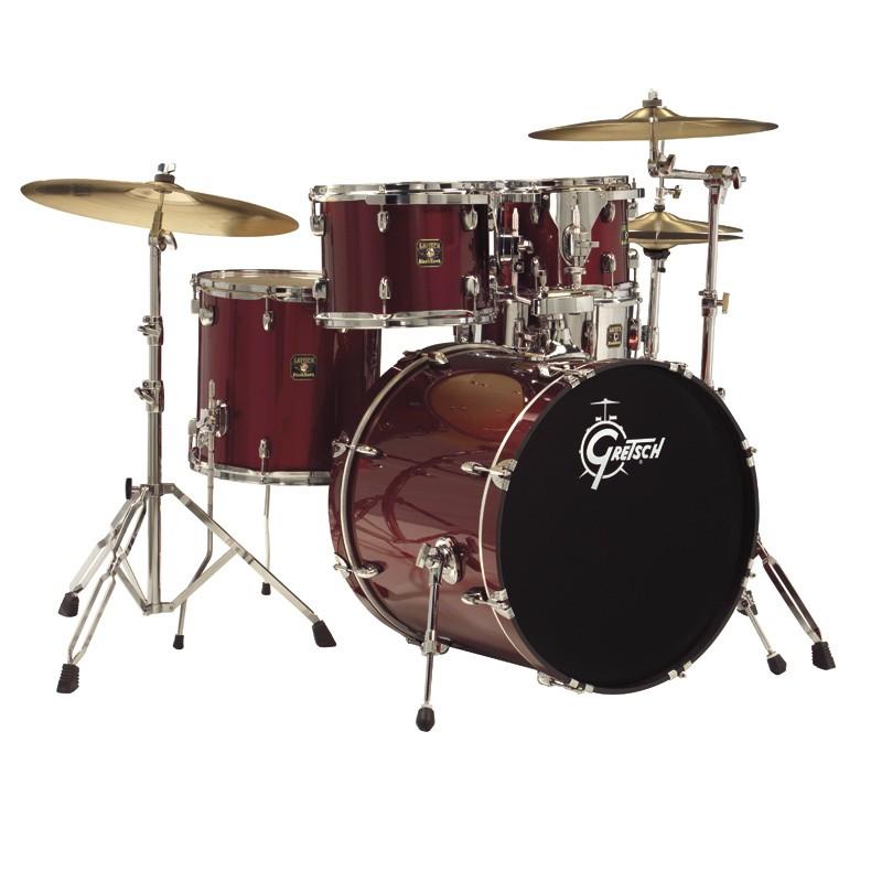 Gretsch 5 Piece Blackhawk Drum Set W Hardware SABIAN Pack