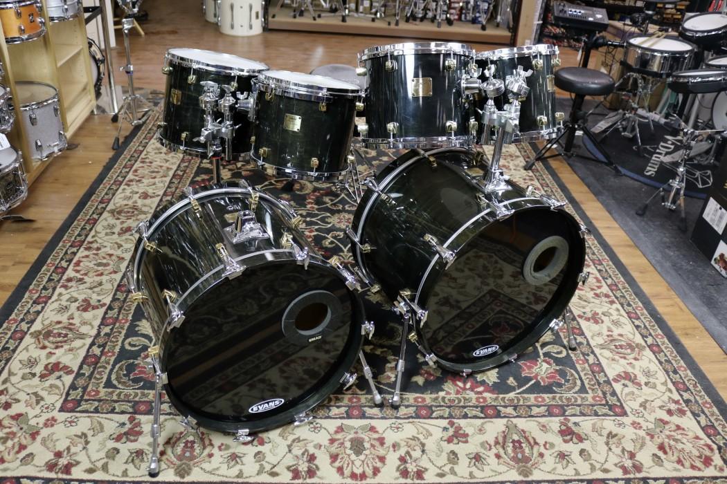 Used Yamaha Maple Custom Ebony 4x14 10x10 10x12 11x13 12x14 16x20 16x22 Tom Mounts W Stand