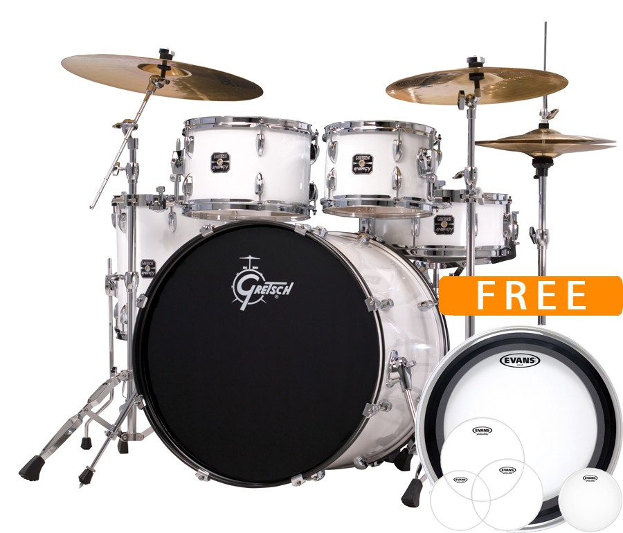 Gretsch Energy Complete Drum Set With Sabian Sbr Cymbal Pack