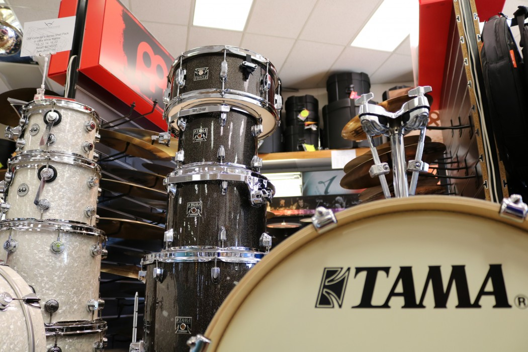 Tama Superstar Classic Drum Set In Midnight Gold Sparkle