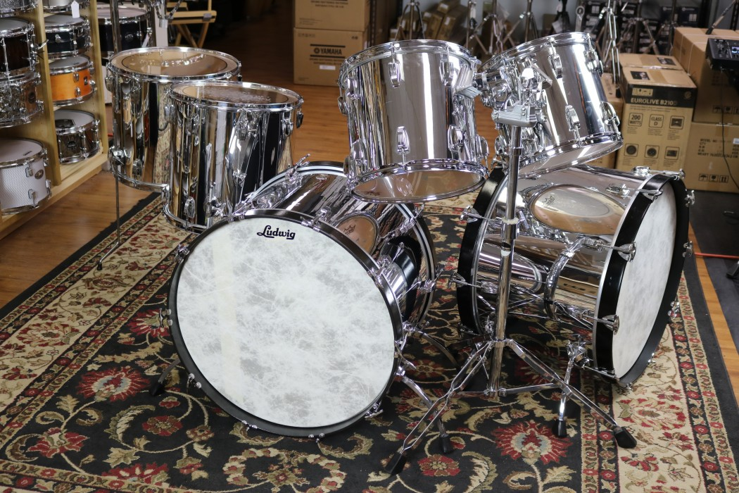 Used Ludwig Usa Chrome Over Maple Dbl Bass 24 24 18 16