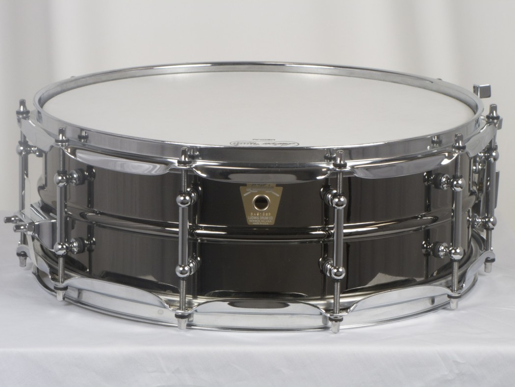 ludwig lb416t 5x14 brass shell black beauty snare drum. Black Bedroom Furniture Sets. Home Design Ideas