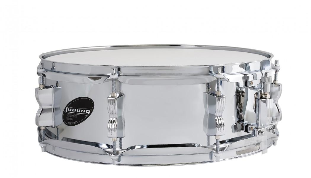 ludwig 5x14 chromed steel snare drum. Black Bedroom Furniture Sets. Home Design Ideas