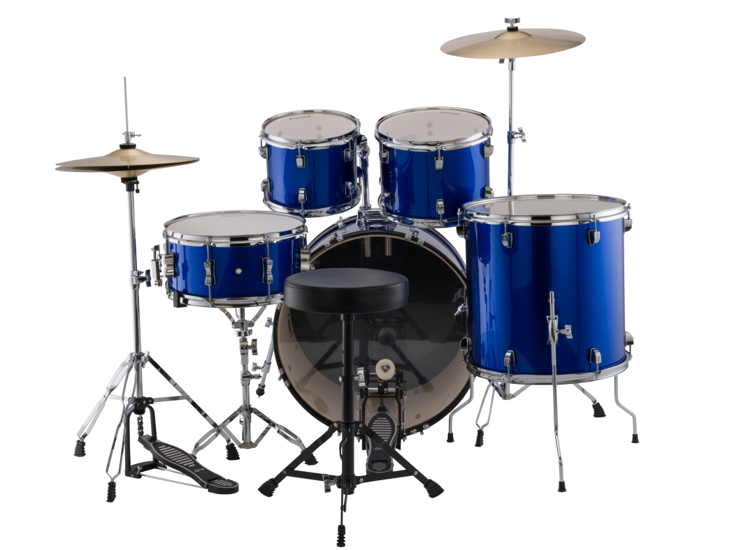 Ludwig Accent Fuse Drum Kit with Hardware and Cymbals