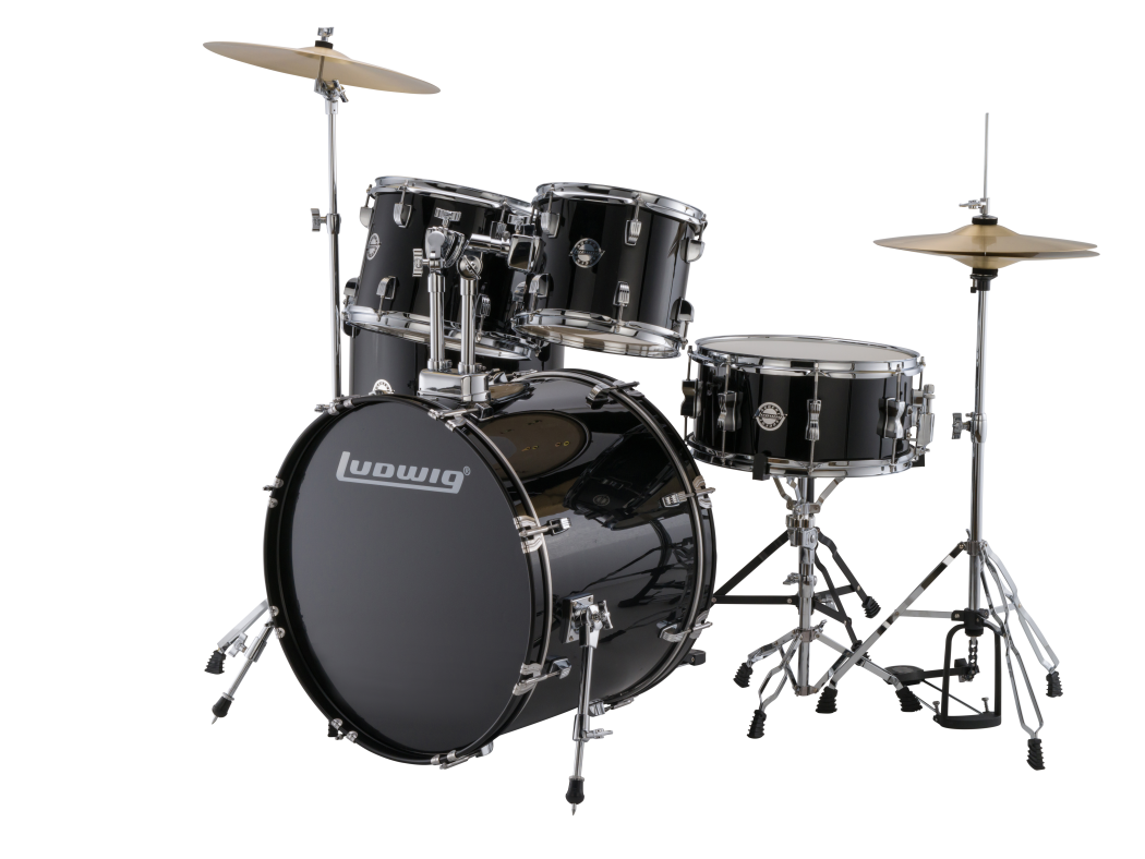 Ludwig Accent Drive Drum Kit With Hardware And Cymbals